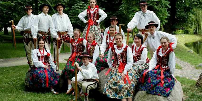 People in the Gorale traditional costumes